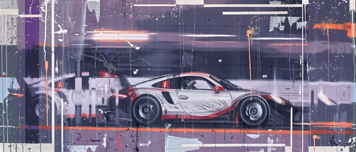 The 911 RSR by kris hardy -  sized 56x24 inches. Available from Whitewall Galleries